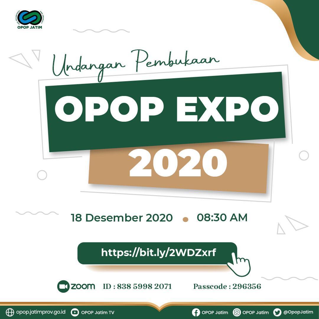 Undangan Pembukaan OPOP EXPO 2020