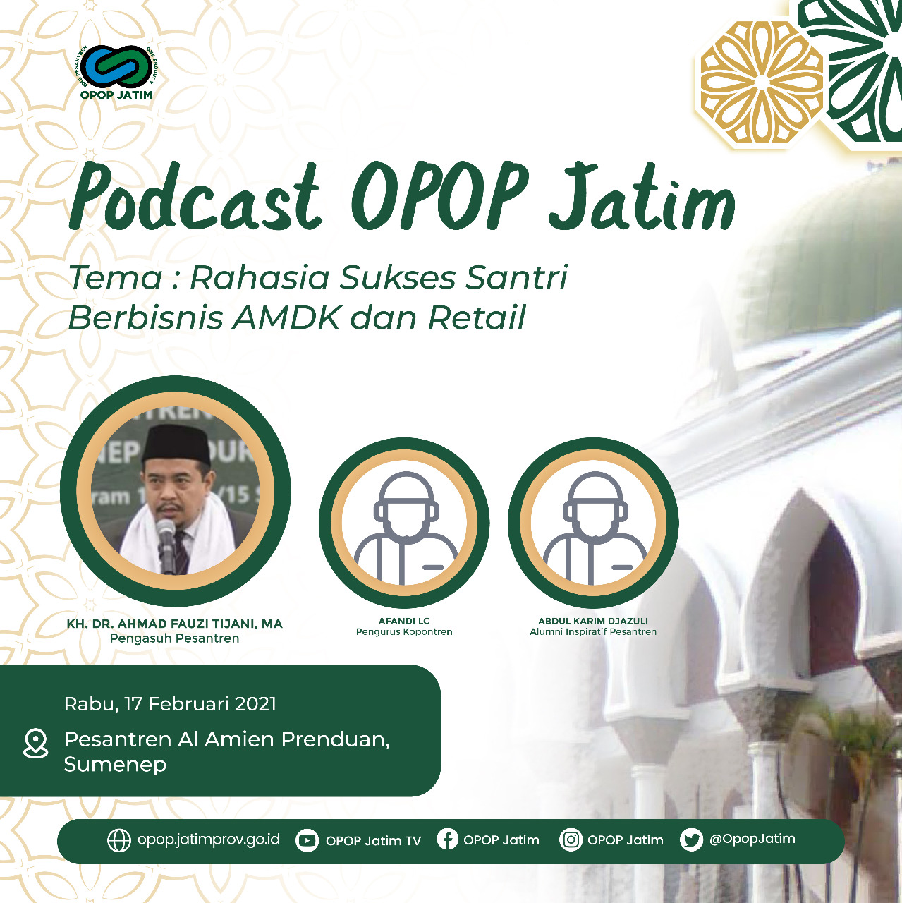 Podcast OPOP 2021 Pesantren Al Amien Prenduan