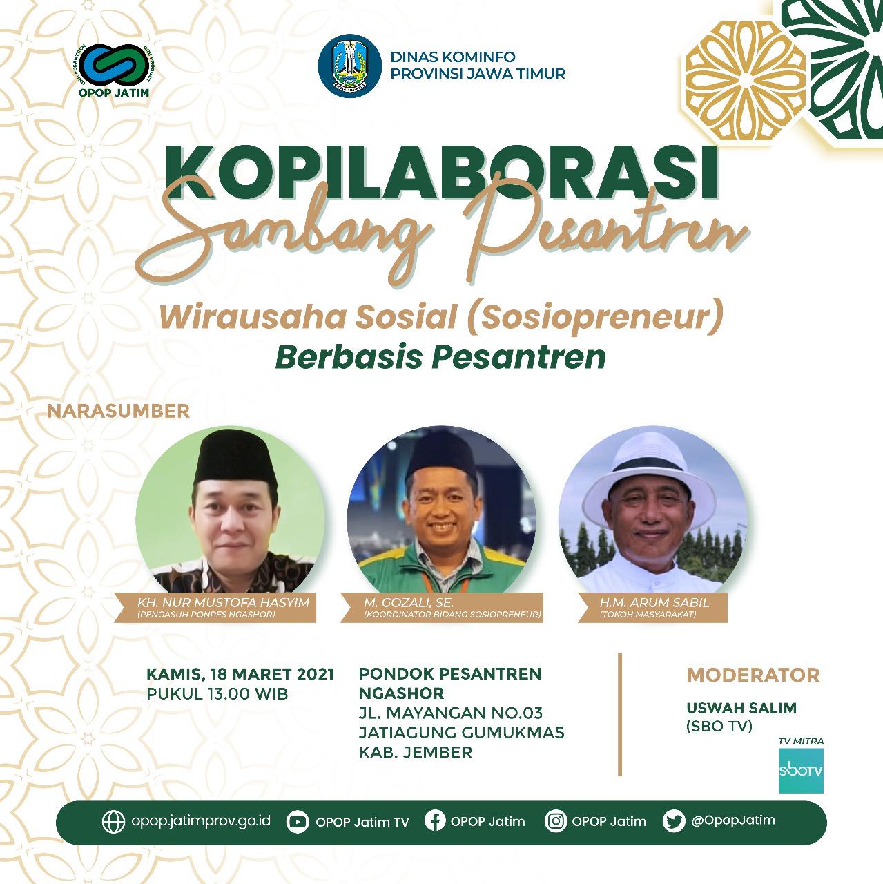 Kopilaborasi Sambang Pesantren 2021 Edisi Sosiopreneur