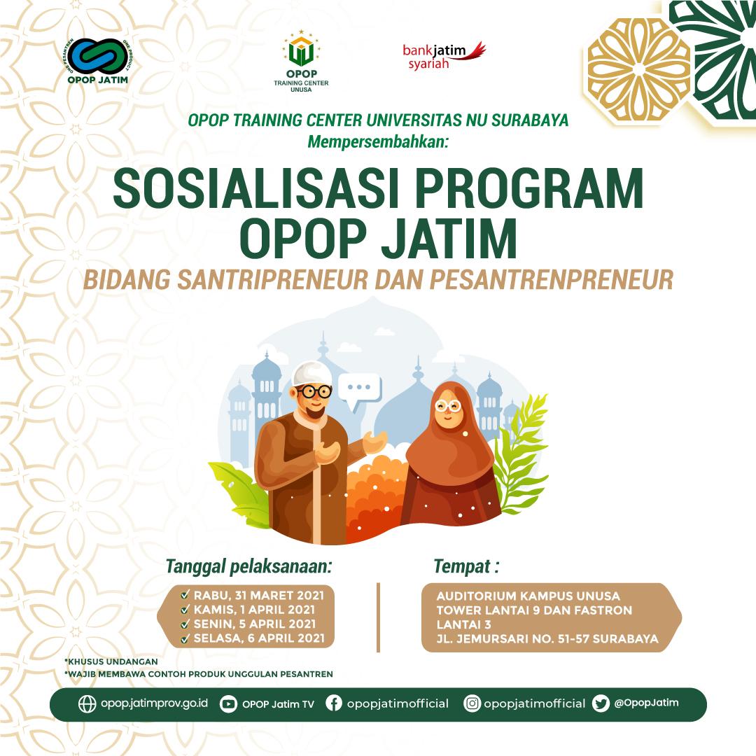 Sosialisasi Program OPOP Jatim