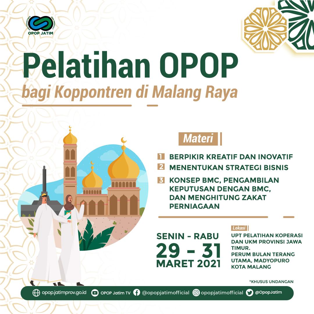Pelatihan OPOP bagi Koppontren di Malang Raya