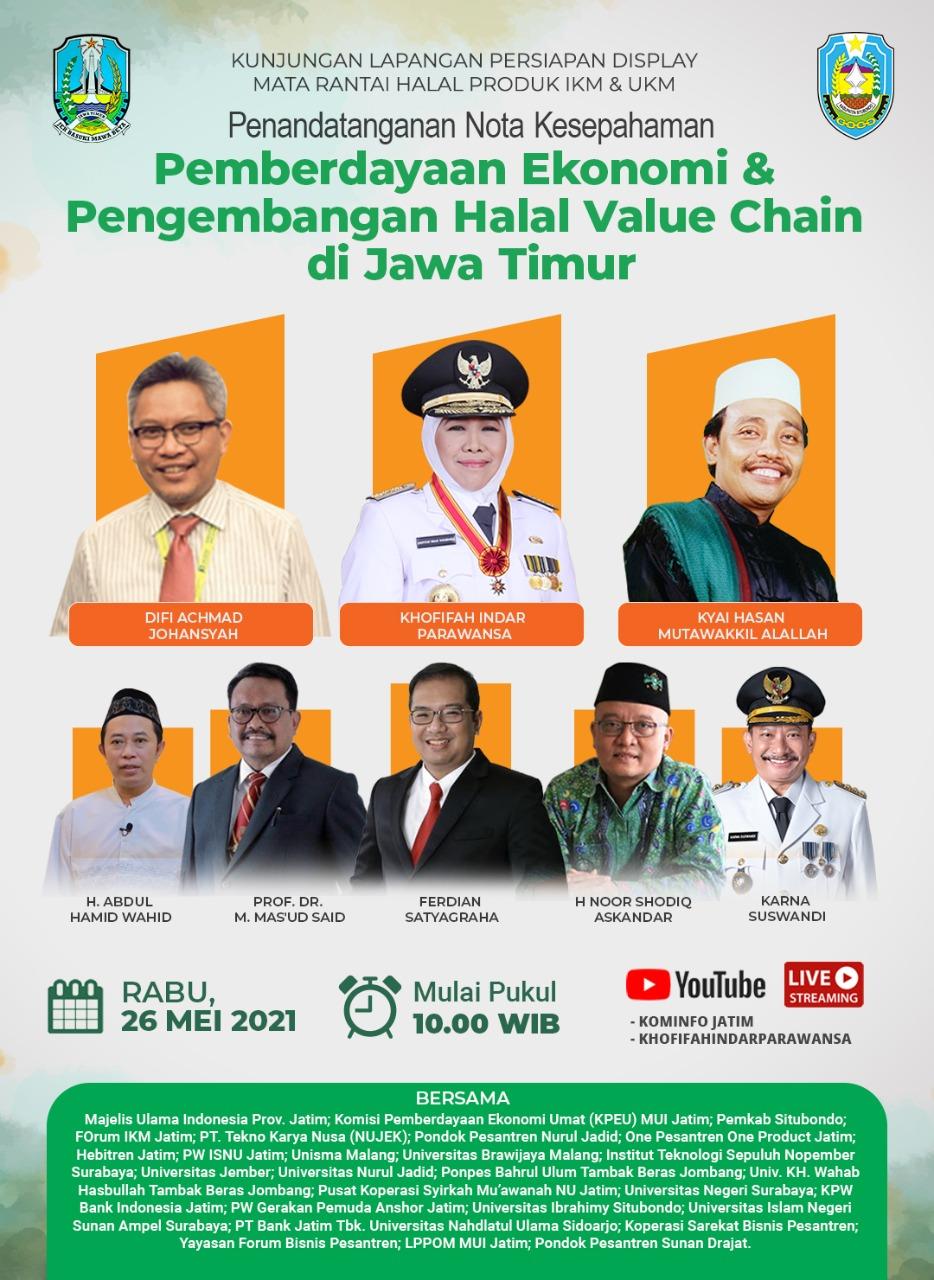 Pemberdayaan Ekonomi dan Pengembangan Halal Value Chain di JawaTimur